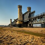 Historic bridges in Tczew - rail and road - Poland, Royalty Free Stock Photography