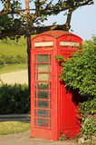Historic british phone box outdoor Royalty Free Stock Photo