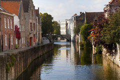 Historic Bruges. Photograph of historic buildings in Bruges, West Flanders, Belgium Royalty Free Stock Photography