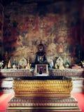 Historic Buddha statue  in Buddhism temple Ubon Ratchathani, Thailand Royalty Free Stock Photography