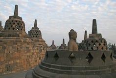Borobudur java island. The historic buddhist borobudur temple at java island in indonesia Stock Photo