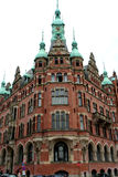 Historic building. In Hamburg harbor, Germany stock photos