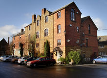 Historic Building. Historic Industrial Building in an English Market Town now converted into Apartments Stock Photography