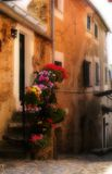 Historic building. Borgata Micheri, Historical center of Liguria, Italy Royalty Free Stock Photos