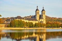Historic Building Abbaye des Prémontrés in Pont-à-Mousson, Lorra. Ine, River Moselle, Lorraine, France stock photography