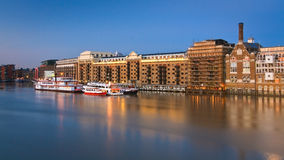 Historic building along Thames in London. Royalty Free Stock Photos