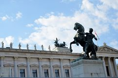 The Austrian parliament Royalty Free Stock Images