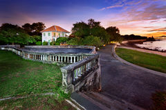 Historic building on beach. In thailand Royalty Free Stock Photography