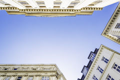 Historic building with blue sky Stock Photography