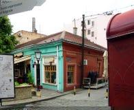 Historic building in bohemian quarter of Skadarlija Belgrade S Stock Photography
