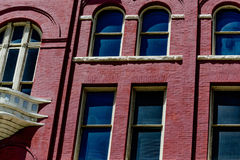 Historic building. Historic brick building with arched windows Stock Image