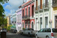 Historic building in Old San Juan, Puerto Rico Royalty Free Stock Photos