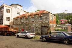 An historic building in the caribbean Stock Photo