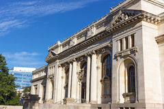Historic building of the Carnegie Library at Mt. Vernon Square in Washington DC, USA. Stock Photos
