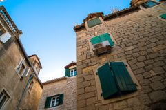 Historic building in the center of split royalty free stock image