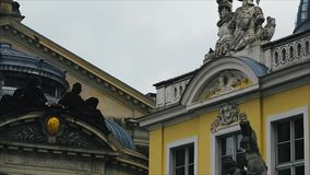 Historic Building in Central Part Dresden stock video footage