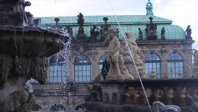 Historic Building in Central Part Dresden stock footage