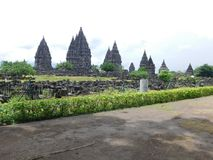 Historic, building, clasic, legend, landscape. Hindus Temple a masterpieace from asia. Historic building is have legend story of Queen Roro Jonggrang stock photo