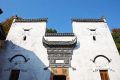 Historic building detail in Jiangwan village Stock Photo