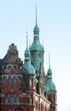 Historic building detail in the speicherstadt Hamburg Germany Stock Photography