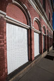 Historic building detail in uptown butte montana Royalty Free Stock Image