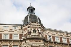 Historic building Doelen Hotel, Amsterdam Stock Photo