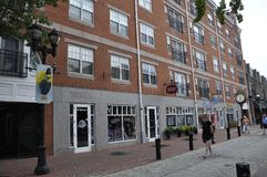 Salem, MA, 1st June: Historic building downtown of Salem in Essex county Massachusettes state of USA stock photo