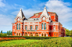 Historic building of drama theater in summer sunny day in Samara Stock Photos
