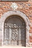 Historic building in Exeter Cathedral close. Door of an historic building in Exeter Cathedral close stock image