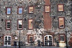 Historic Building Facade. Front Facade of a Historic River Front Building in Savannah, GA Stock Image