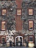 Historic Building Facade. Front Facade of a Historic River Front Building in Savannah, GA stock photography