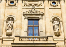 Historic building facade - Bucharest Royalty Free Stock Photos