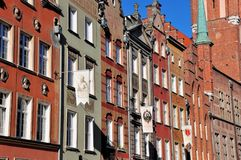 Historic building facade in Gdansk, Poland Royalty Free Stock Photography