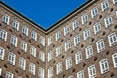 Historic building facade in Hamburg Stock Photography