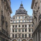 Historic building facade in London city,  England. Historic building facade in London, England Royalty Free Stock Photo