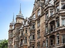 Historic building facade in London, England.  Stock Photo
