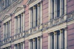 Historic building facade, old building exterior Stock Image