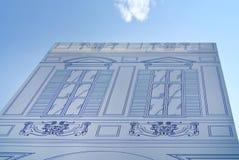 Historic building facade renovation. The historic building facade renovation Stock Photos