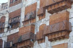 Building facade in Jeddah old city Royalty Free Stock Photo