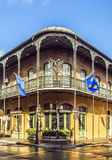 Historic building in the French Quarter stock photos
