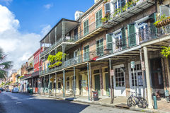 Historic building in the French Quarter stock image