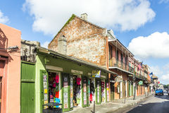 Historic building in the French Quarter in New Orleans Royalty Free Stock Images