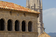 Historic building in Girona. Spain stock image
