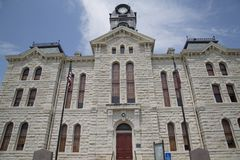 Historic building Granbury courthouse in TX USA Royalty Free Stock Image