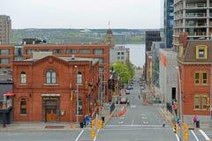 Historic Building, Halifax, Nova Scotia, Canada. Historic Buildings on Prince Street at Brunswick Street in downtown Halifax, Nova Scotia, Canada royalty free stock images