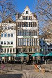 Historic building at the Heumarkt in Cologne, Germany stock image