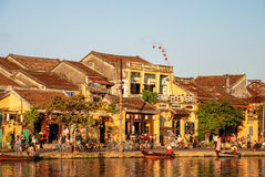 Historic building in Hoi An, Vietnam. Hoi An is located on the coast of the South China Sea. Is  recognised as a World Heritage Site by UNESCO Stock Images