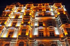 Historic Building Istiklal Beyoglu Istanbul. Historic Building Istiklal Night Scenes Beyoglu Istanbul, Turkey Stock Photos