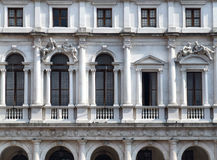 Historic building in Italian city stock photography