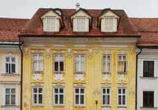 Historic Building in Kranj Stock Photography